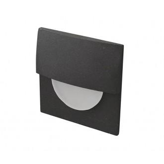 AZZARDO 2765 | Sane Azzardo ugradbena svjetiljka 1x LED 85lm 3000K crno