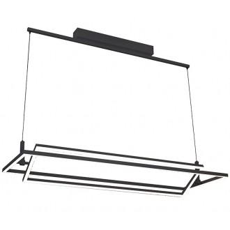 AZZARDO 2849 | Viena Azzardo visilice svjetiljka jačina svjetlosti se može podešavati 1x LED 4200lm 3000K crno