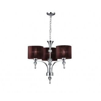 AZZARDO 2900 | Impress-AZ Azzardo luster svjetiljka 3x E27 krom, smeđe, kristal