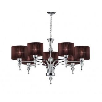 AZZARDO 2902 | Impress-AZ Azzardo luster svjetiljka 7x E27 krom, smeđe, kristal