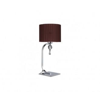 AZZARDO 2903 | Impress-AZ Azzardo stolna svjetiljka 42cm s prekidačem 1x E27 krom, smeđe, kristal