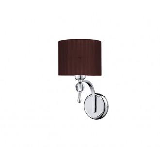 AZZARDO 2904 | Impress-AZ Azzardo zidna svjetiljka 1x E27 krom, smeđe, kristal