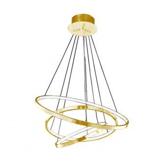 AZZARDO 2918   Wheel Azzardo visilice svjetiljka 1x LED 4800lm zlatno, bijelo