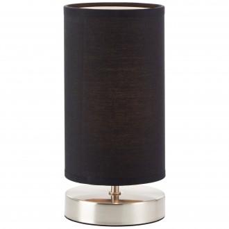 BRILLIANT 13247/06 | Clarie Brilliant stolna svjetiljka 25,5cm sa prekidačem na kablu 1x E14 satenski nikal, crno