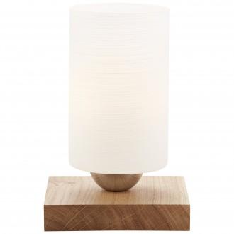 BRILLIANT 23047/35 | Nature-BRI Brilliant stolna svjetiljka 20,5cm sa prekidačem na kablu 1x E27 boja hrasta, bijelo