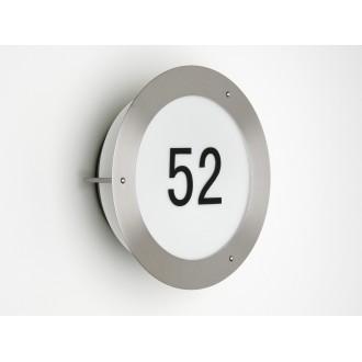 BRILLIANT 41380/82 | NevadaB Brilliant zidna svjetiljka 1x E27 IP23 plemeniti čelik, čelik sivo