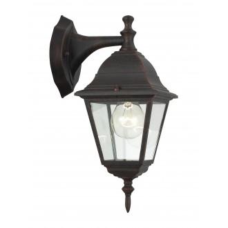 BRILLIANT 44282/55 | NewportB Brilliant zidna svjetiljka 1x E27 IP23 rdža smeđe