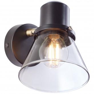 BRILLIANT 79310/93 | Ronald-BRI Brilliant zidna svjetiljka elementi koji se mogu okretati 1x E14 crno, antik bakar, dim