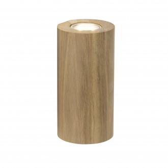 BRILLIANT 90305/35 | Match Brilliant stolna svjetiljka 20cm sa prekidačem na kablu 2x GU10 boja hrasta
