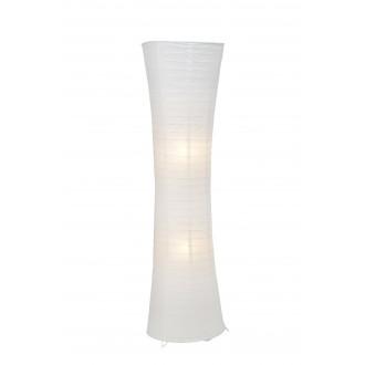 BRILLIANT 92961/05 | Becca Brilliant podna svjetiljka 125cm sa nožnim prekidačem 2x E27 bijelo