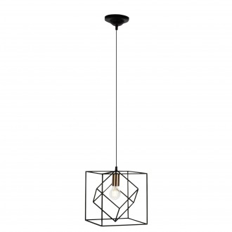 BRILLIANT 93594/76 | Tycho Brilliant visilice svjetiljka 1x E27 crno, crveni bakar