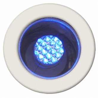 BRILLIANT G03090/73 | Cosa15 Brilliant ugradbena svjetiljka set od 10 komada Ø15mm 15x15mm 10x LED IP44 plemeniti čelik, čelik sivo, plavo