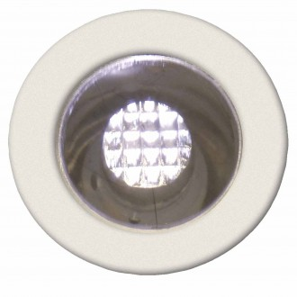 BRILLIANT G03090/75 | Cosa15 Brilliant ugradbena svjetiljka set od 10 komada Ø15mm 15x15mm 10x LED 10lm 2700K IP44 plemeniti čelik, čelik sivo, topla bijela