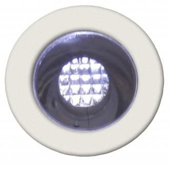 BRILLIANT G03090/82 | Cosa15 Brilliant ugradbena svjetiljka set od 10 komada Ø15mm 15x15mm 10x LED 10lm 7500K IP44 plemeniti čelik, čelik sivo, bijelo