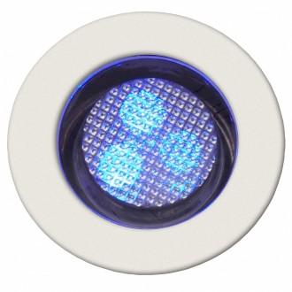 BRILLIANT G03093/73 | Cosa30 Brilliant ugradbena svjetiljka set od 10 komada Ø30mm 30x30mm 10x LED IP44 plemeniti čelik, čelik sivo, plavo