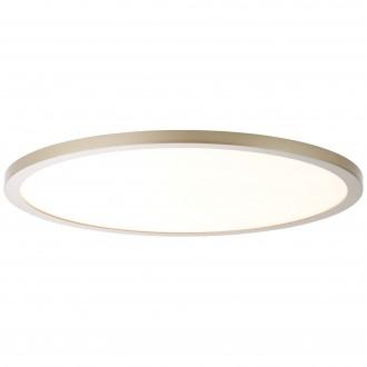 BRILLIANT G20883/13   Smooth Brilliant stropne svjetiljke svjetiljka daljinski upravljač jačina svjetlosti se može podešavati 1x LED 3800lm 2700 <-> 6200K poniklano mat