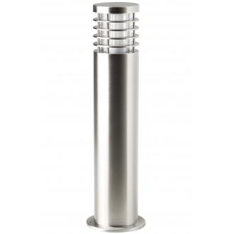 BRILLIANT G43284/82 | Finnigan Brilliant podna svjetiljka cilindar 50cm 1x E27 IP44 plemeniti čelik, čelik sivo