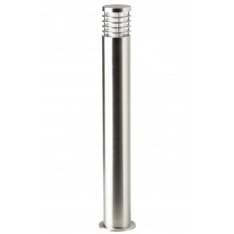 BRILLIANT G43285/82 | Finnigan Brilliant podna svjetiljka cilindar 80cm 1x E27 IP44 plemeniti čelik, čelik sivo
