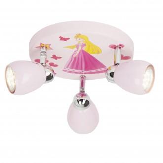BRILLIANT G55934/17 | PrincessB Brilliant stropne svjetiljke svjetiljka elementi koji se mogu okretati 3x GU10 250lm 3000K ružičasto