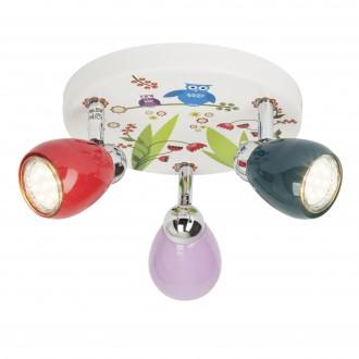 BRILLIANT G56034/72 | Birds Brilliant stropne svjetiljke svjetiljka elementi koji se mogu okretati 3x GU10 250lm 3000K višebojno