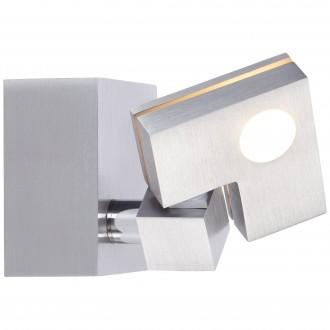 BRILLIANT G72510/21 | 90-Degree Brilliant stropne svjetiljke svjetiljka sa dodirnim prekidačem elementi koji se mogu okretati 1x LED 380lm 3000K aluminij