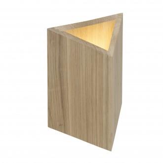 BRILLIANT G90074/35 | Mark-BRI Brilliant stolna svjetiljka 27cm sa prekidačem na kablu 2x LED 720lm 3000K boja hrasta