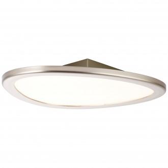 BRILLIANT G90192/68 | Stone-BRI Brilliant stropne svjetiljke svjetiljka daljinski upravljač jačina svjetlosti se može podešavati 1x LED 2195lm 2700 <-> 6200K nikel, bijelo
