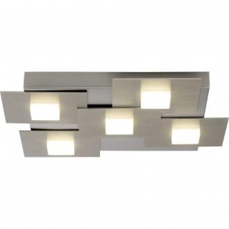 BRILLIANT G90236/13 | Numbers Brilliant stropne svjetiljke svjetiljka tvlaknoepeni prekidač 5x LED 2255lm 3000K satenski nikal, bijelo