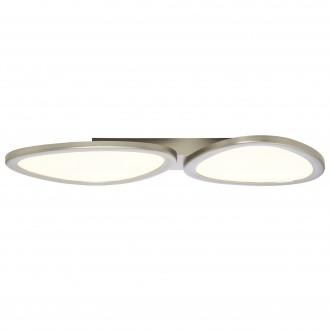 BRILLIANT G90284/68 | Stone-BRI Brilliant stropne svjetiljke svjetiljka daljinski upravljač jačina svjetlosti se može podešavati 1x LED 3700lm 2700 <-> 6200K nikel, bijelo
