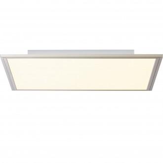 BRILLIANT G90299/68 | Flat-BRI Brilliant stropne svjetiljke svjetiljka daljinski upravljač jačina svjetlosti se može podešavati 1x LED 2400lm 2700 <-> 6200K nikel, bijelo