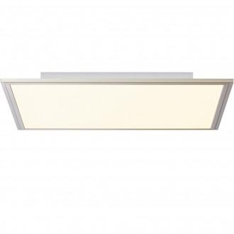 BRILLIANT G90300/68 | Flat-BRI Brilliant stropne svjetiljke svjetiljka daljinski upravljač jačina svjetlosti se može podešavati 1x LED 3500lm 2700 <-> 6200K nikel, bijelo