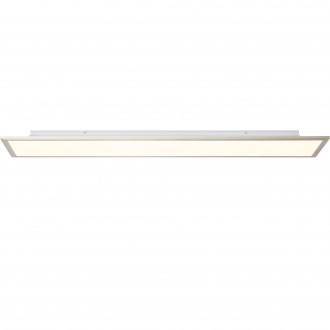 BRILLIANT G90301/68 | Flat-BRI Brilliant stropne svjetiljke svjetiljka daljinski upravljač jačina svjetlosti se može podešavati 1x LED 4540lm 2700 <-> 6200K nikel, bijelo