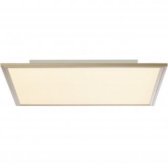 BRILLIANT G90314/68 | Flat-RGB Brilliant stropne svjetiljke svjetiljka daljinski upravljač jačina svjetlosti se može podešavati 1x LED 3500lm 2700 <-> 6200K nikel, bijelo