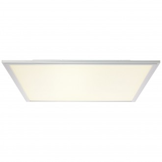 BRILLIANT G90327/21 | Flat-WiZ Brilliant stropne svjetiljke svjetiljka jačina svjetlosti se može podešavati 1x LED 3310lm 2700 <-> 6200K aluminij, bijelo
