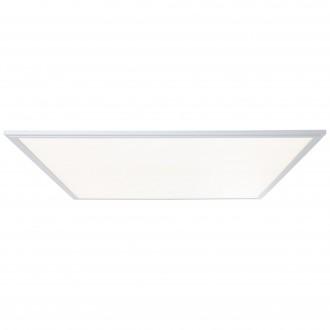 BRILLIANT G90370/21 | Flat-WiZ Brilliant stropne svjetiljke svjetiljka jačina svjetlosti se može podešavati 1x LED 4800lm 2700 <-> 6200K aluminij, bijelo
