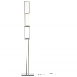 BRILLIANT G93453/21 | Tunar Brilliant podna svjetiljka 157cm sa tiristorskim prekidačem elementi koji se mogu okretati 1x LED 1755lm 3000K aluminij