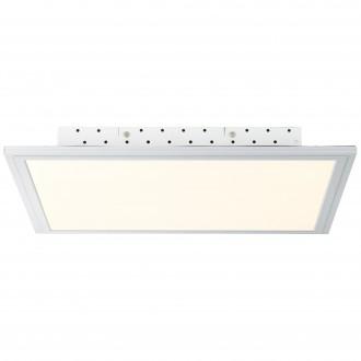 BRILLIANT G94395/05 | FlatB Brilliant stropne svjetiljke svjetiljka daljinski upravljač jačina svjetlosti se može podešavati 1x LED 2500lm 2700 <-> 6200K aluminij, bijelo