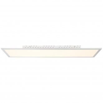 BRILLIANT G94397/05 | FlatB Brilliant stropne svjetiljke svjetiljka daljinski upravljač jačina svjetlosti se može podešavati 1x LED 5000lm 2700 <-> 6200K aluminij, bijelo