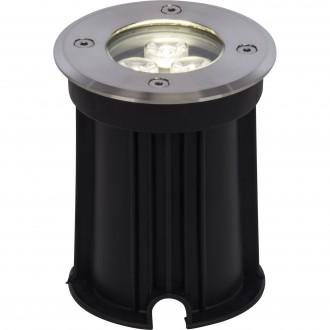BRILLIANT G96268/82 | Derby Brilliant ugradbena svjetiljka Ø100mm 100x100mm 1x LED 200lm 4000K IP67 plemeniti čelik, čelik sivo