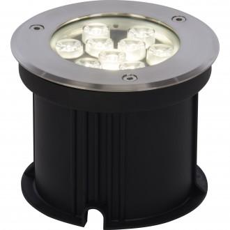 BRILLIANT G96269/82 | CarltonB Brilliant ugradbena svjetiljka Ø150mm 150x150mm 1x LED 650lm 4000K IP67 plemeniti čelik, čelik sivo