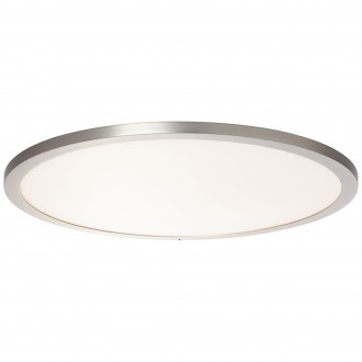 BRILLIANT G96809/68 | Smooth-WiZ Brilliant stropne svjetiljke svjetiljka jačina svjetlosti se može podešavati 1x LED 3800lm 2700 <-> 6200K poniklano mat