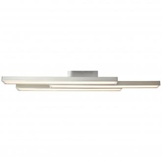 BRILLIANT G96813/68 | Sword-WiZ Brilliant stropne svjetiljke svjetiljka jačina svjetlosti se može podešavati, promjenjive boje 3x LED 1200lm 2700 <-> 6200K poniklano mat