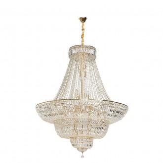 CHIARO 340011536 | Diana-MW Chiaro luster svjetiljka 36x E14 15480lm zlatno, kristal