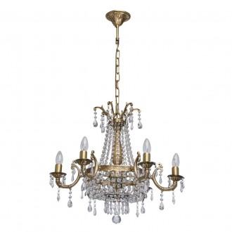 CHIARO 351011808 | Isabella-MW Chiaro luster svjetiljka 8x E14 5160lm antik bakar, prozirno, kristal