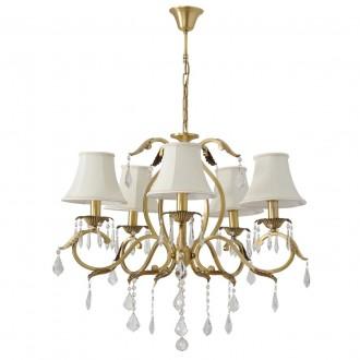CHIARO 355011805 | Sofia-MW Chiaro luster svjetiljka 5x E14 3225lm mesing, bijelo, prozirno