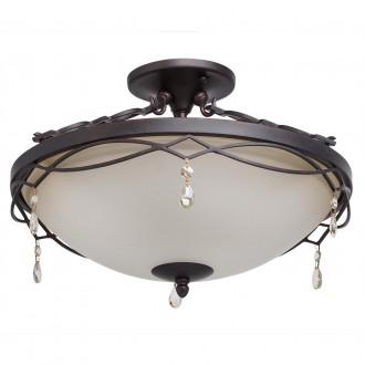 CHIARO 382010703 | Magdalena-MW Chiaro stropne svjetiljke svjetiljka 3x E27 1935lm antik crno, opal, kristal
