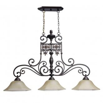 CHIARO 382011503 | Magdalena-MW Chiaro visilice svjetiljka 3x E27 3225lm smeđe, krem