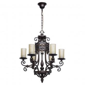 CHIARO 382011606 | Magdalena-MW Chiaro luster svjetiljka 6x E27 3870lm braon antik, krem