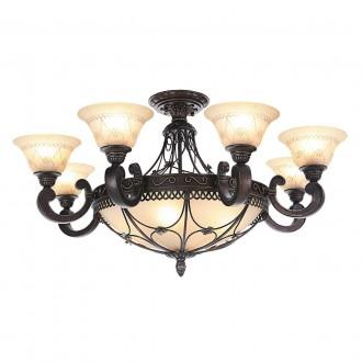 CHIARO 382012812 | Magdalena-MW Chiaro stropne svjetiljke svjetiljka 12x E27 7740lm antik brončano, krem
