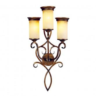 CHIARO 382020103 | Magdalena-MW Chiaro zidna svjetiljka 3x E14 1935lm smeđe, krem